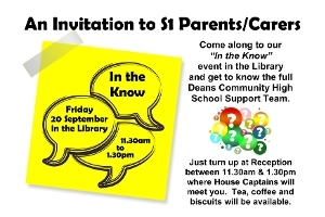 An Invitation to S1 Parents and Carers Icon